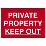 Scan Private Property Keep Out – PVC 300 x 200mm