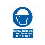 Scan Safety Helmets Must Be Worn In This Area – PVC 400 x 600mm