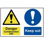Scan Danger Contruction Site Keep Out – PVC 600 x 400mm