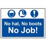Scan No Hat, No Boots, No Job – PVC 600 x 400mm