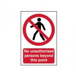 Scan No Unauthorised Persons Beyond This Point – PVC 400 x 600mm