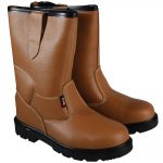Scan Texas Dual Density Lined Rigger Boots Tan UK 10 Euro 44