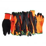 Scan Knitshell Thermal Gloves (12) Orange / Black Size 10