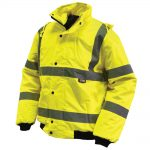 Scan Hi-Vis Bomber Jacket Yellow – Medium