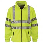 Scan Hi-Visibility Yellow Full Zip Fleece – Large