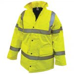 Scan Hi-vis Motorway Jacket Yellow – Large