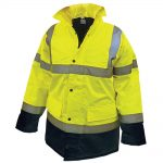 Scan Hi-Vis Motorway Jacket Yellow Black – L 42-44in
