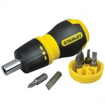Stanley Multibit Stubby Screwdriver With Bits