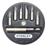 Stanley Insert Bit Set 7 Piece Phillips Slotted Pozidriv 1-68-737