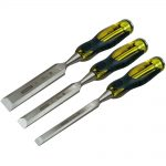 Stanley FatMax Bevel Edge Chisel with Thru Tang Set of 3 12, 18 25mm