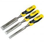 Stanley Dynagrip Bevel Edge Chisel with Strike Cap Set of 3 12, 18 25mm