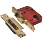 Union StrongBOLT 2203S 3 Lever Brass 81mm 3in Mortice Sashlock