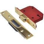 Union StrongBOLT 2103S 3 Lever Brass 81mm 3in Mortice Deadlock