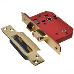 Union StrongBOLT 22WCS Brass 81mm 3in Mortice Bathroom Lock