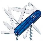 Victorinox Huntsman Swiss Army Knife Translucent Blue Blister Pack