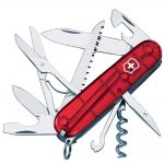 Victorinox Huntsman Swiss Army Knife Translucent Red Blister Pack