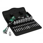 Wera Zyklop 1/4in Metric Ratchet + Socket Set 28pc Gift Set