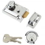 Yale P77 Traditional Nightlatch Chrome Finish 60mm Backset Visi Pack