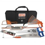 Bahco 10pc Woodworking Saw Kit In Carry Case