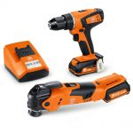 Fein ABSU12C + AFMT12Q 12v Cordless 2.5Ah Li-Ion Twin Kit